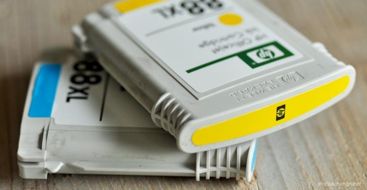 Leere Tintenpatronen und Tonerkartuschen recyceln