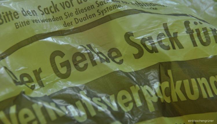 Plastikmüll vermeiden, 1 Gelber Sack in 8 Wochen