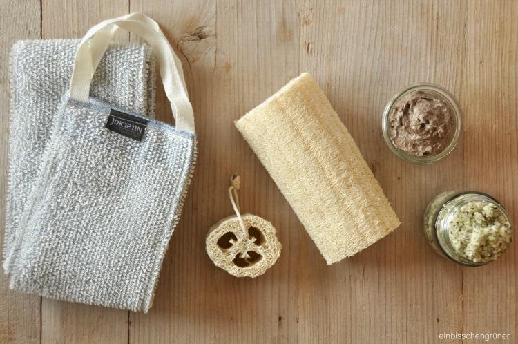Peeling ohne Mikroplastik und Plastik