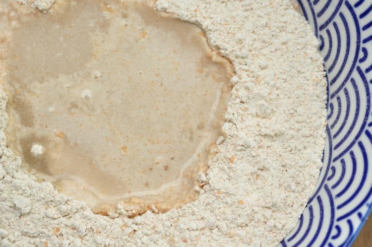 Angesetzte Hefe für Brotteig