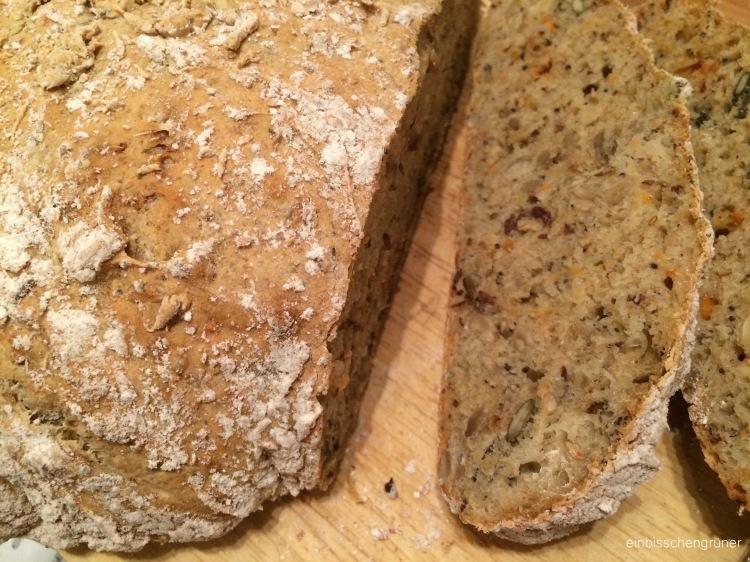 Veganes Brot ohne Kneten