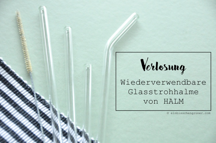 Wiederverwendbare Glasstrohhalme