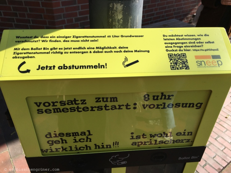 Ballot Bin an der Uni Oldenburg