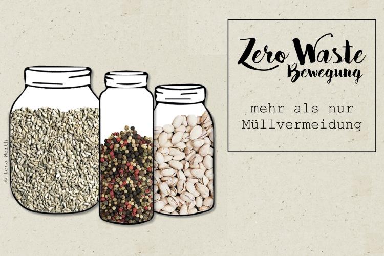 Zero Waste - mehr als Müllvermeidung. Illustration: © Lena Werth